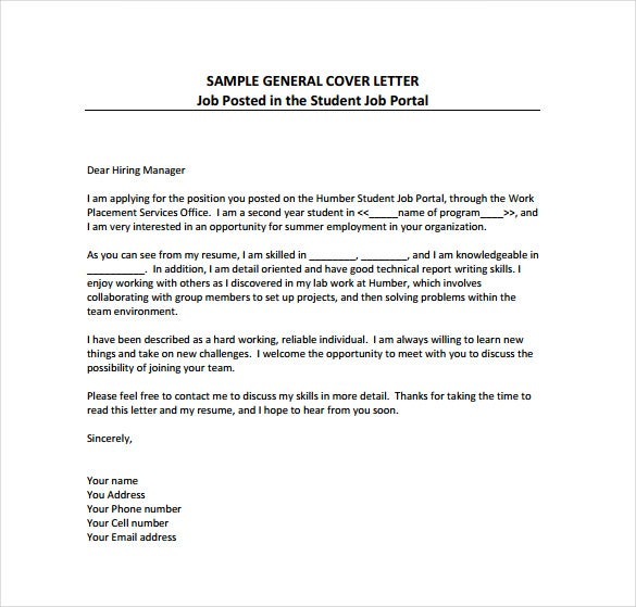 Simple Cover Letter Template Example Of Cover Letter For Job