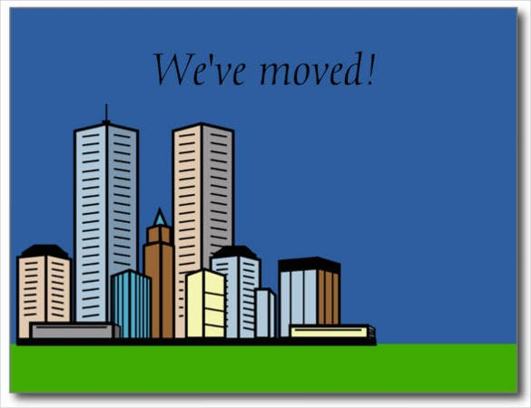 customizable business just moved cards postcard