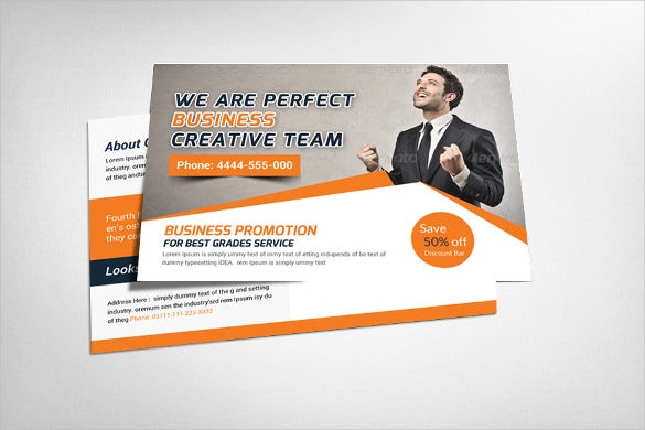 creative colourful business postcard template