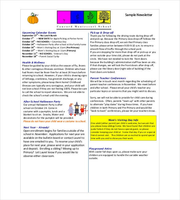 Classroom newsletter template 9 free word pdf for Free newsletter templates downloads for word