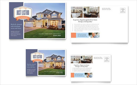 simple new property postcard template