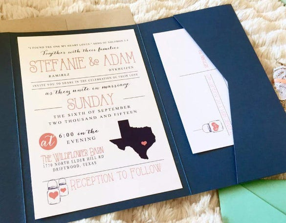 country wedding invitation 1