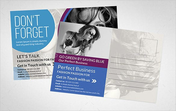 multipurpose business postcard in photoshop psd