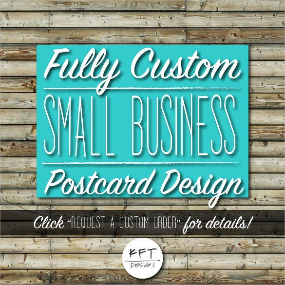 custom business postcard design template digital file printable
