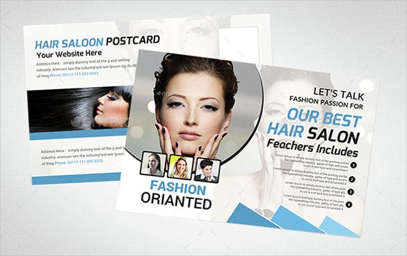 multipurpose business postcard for salon services
