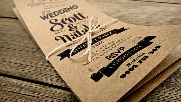 country wedding invitation rsvp