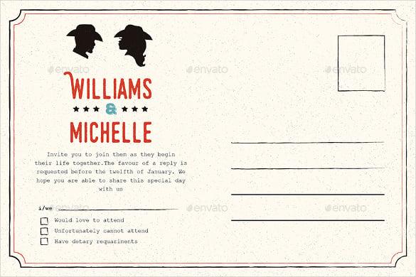 country wedding invitation 6