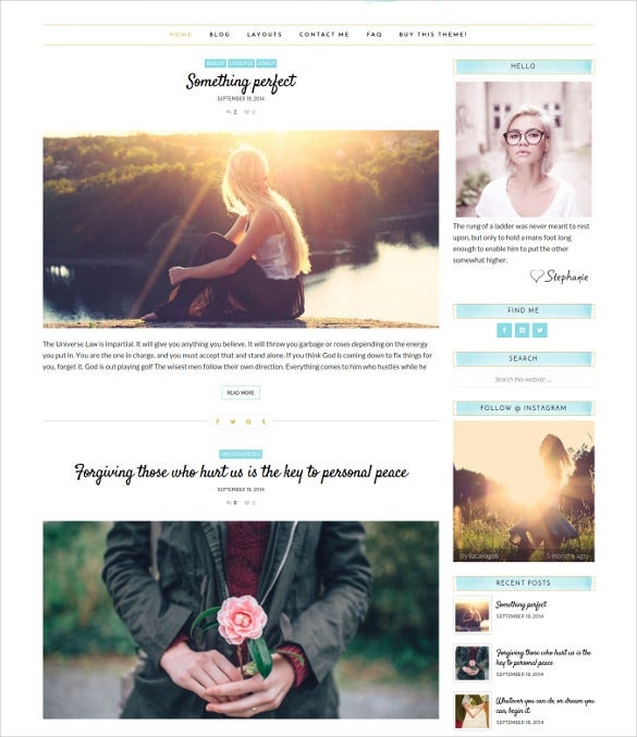 feminine wordpress theme stephanie