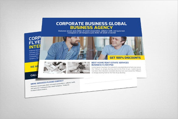 business adviser postcard template