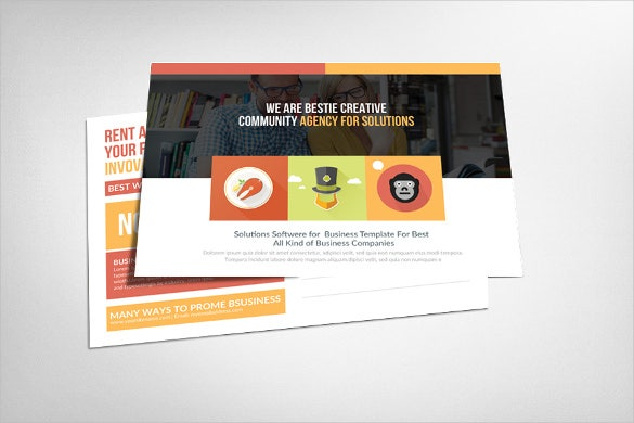 corporate business 6x4 postcard template
