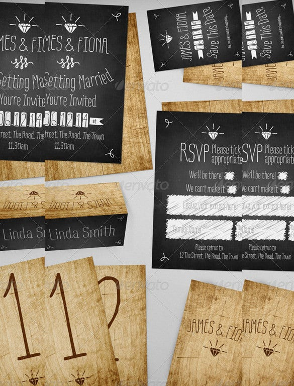 different types of country wedding invitation