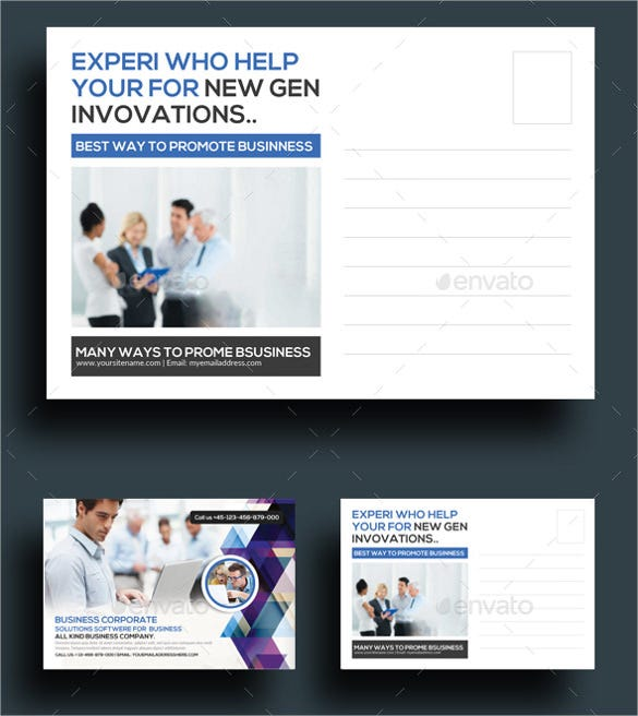 corporate business postcardsfor all kind of company