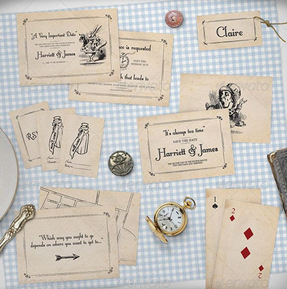 wedding stationery mock up set rustic country 5