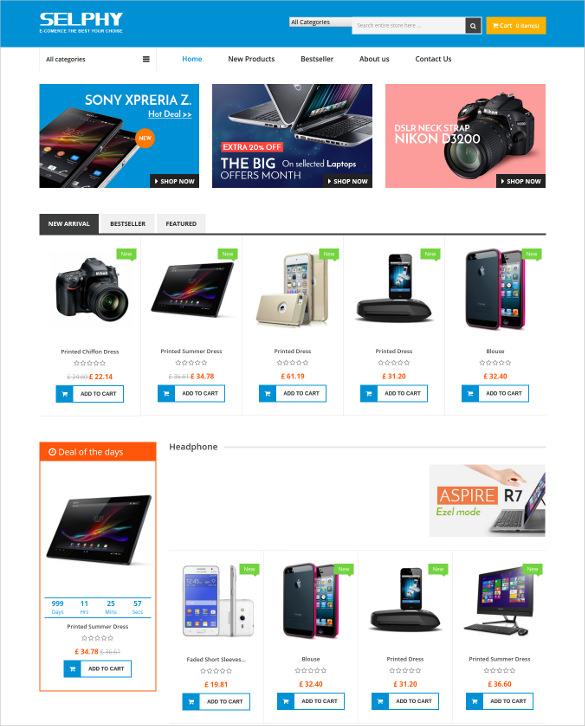 selphy mega shop responsive prestashop ecommerce template