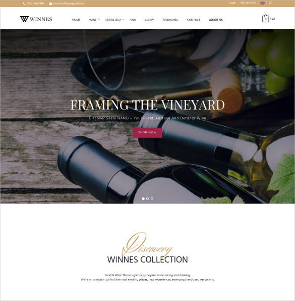 mt winnes responsive magento wine ecommerce theme