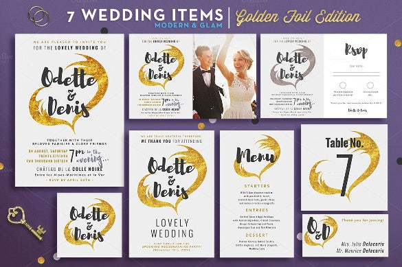 wedding suite i golden foil edition