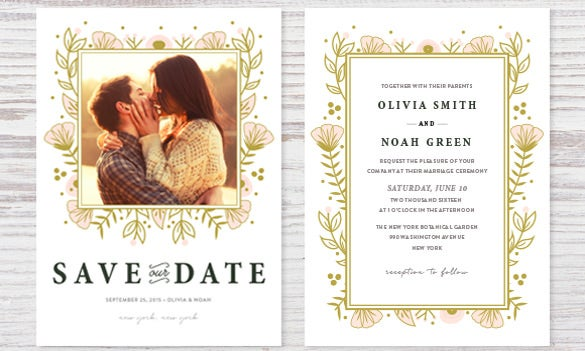 wedding invitation collection design