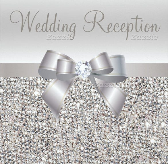 silver sequins bow diamond wedding