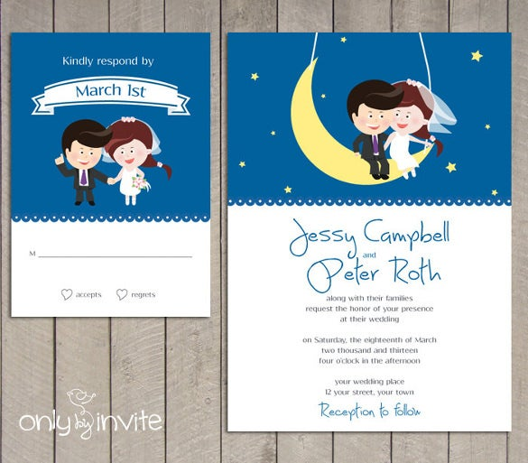 Use This Theme Of Starry Night Funny Wedding Invitation And Ask Your Family Friends To Grace The Occasion As You Get Married Begin A New Chapter
