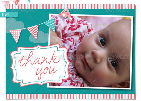 baby thankyou postcards for boys and girls