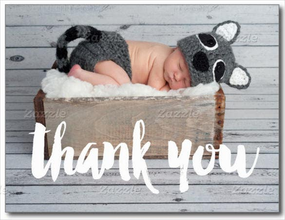 baby birth announcement thank you postcard