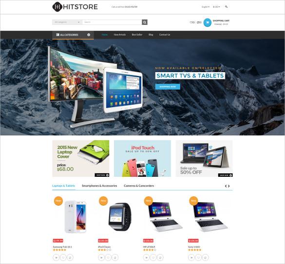 hitstore responsive hitech opencart ecommerce theme