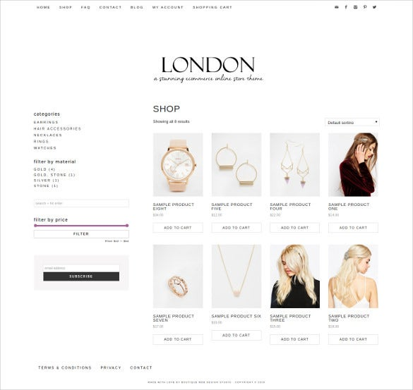 blog online store ecommerce theme