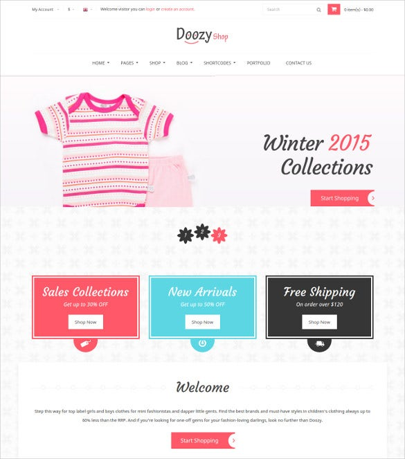 doozy kids ecommerce html template