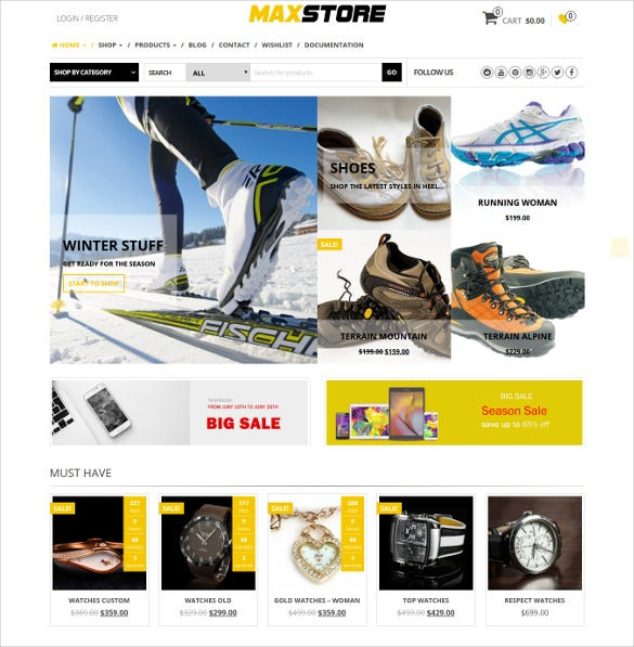 maxstore pro wordpress ecommerce template