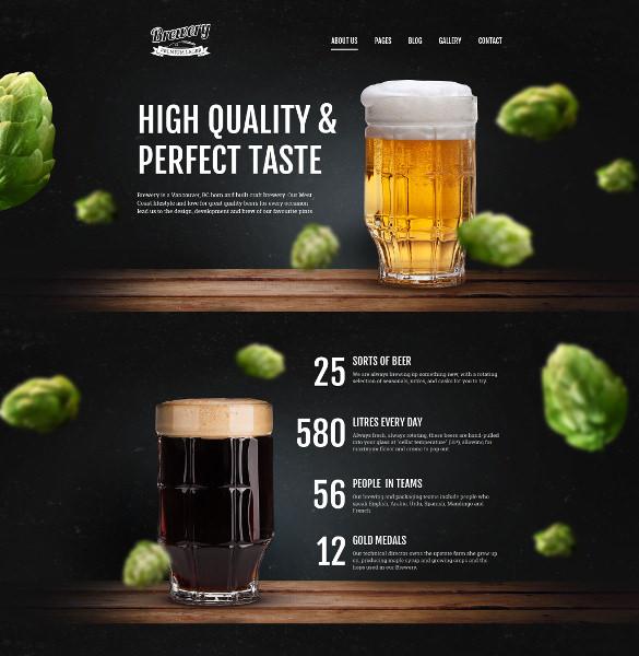 brewery responsive joomla blog template