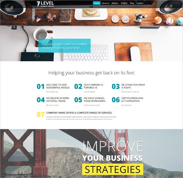 7 level wordpress blog theme