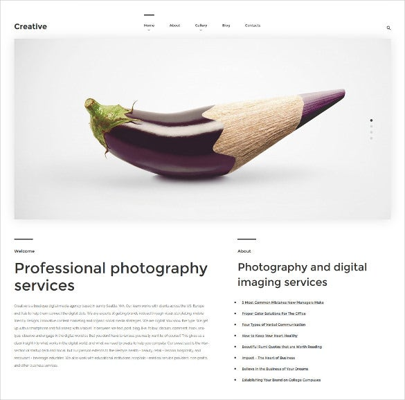 creative wordpress blog theme
