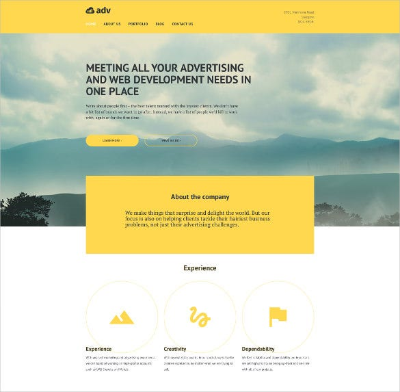 adv wordpress blog theme