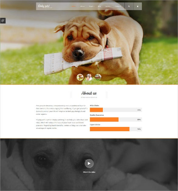 animals pets joomla blog template