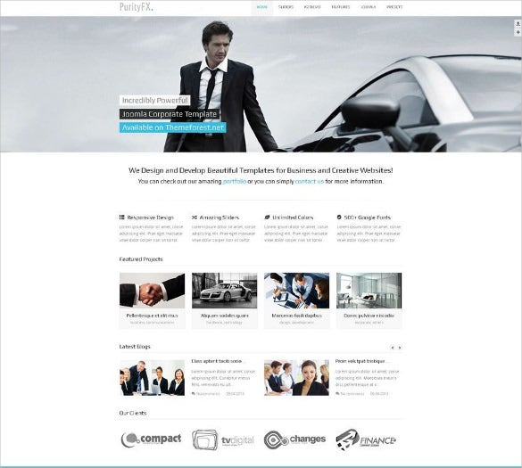 simple corporate joomla template