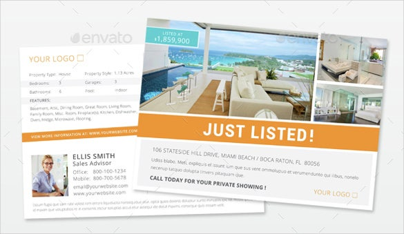 simple real estate postcard template1