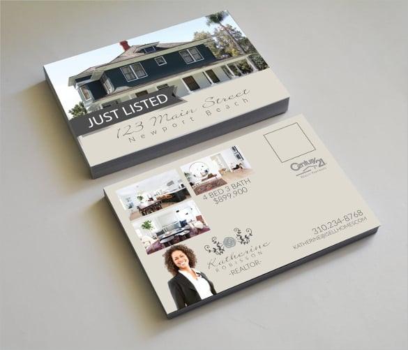 real estate postcard disclaimer