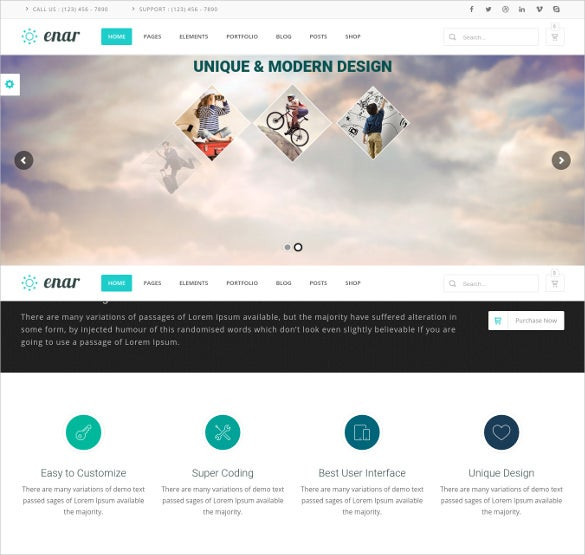 enar responsive multi purpose wordpress blog theme
