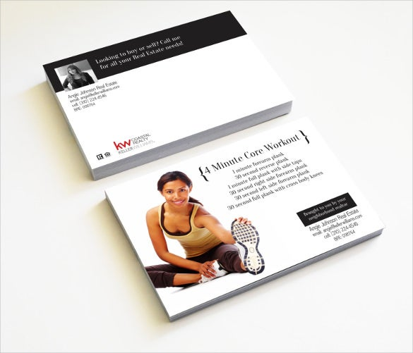 realtor real estate gym postcard template
