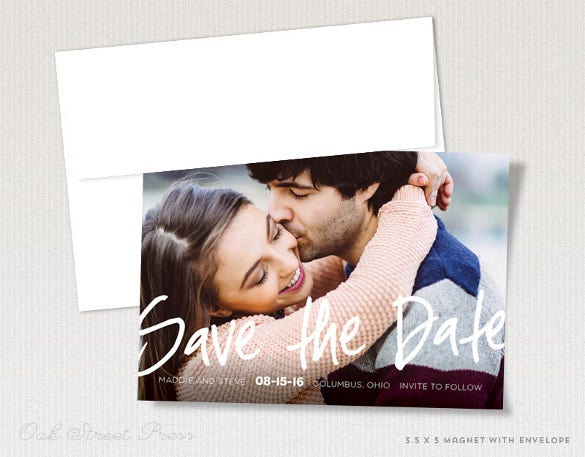 modern photo save the date magnets