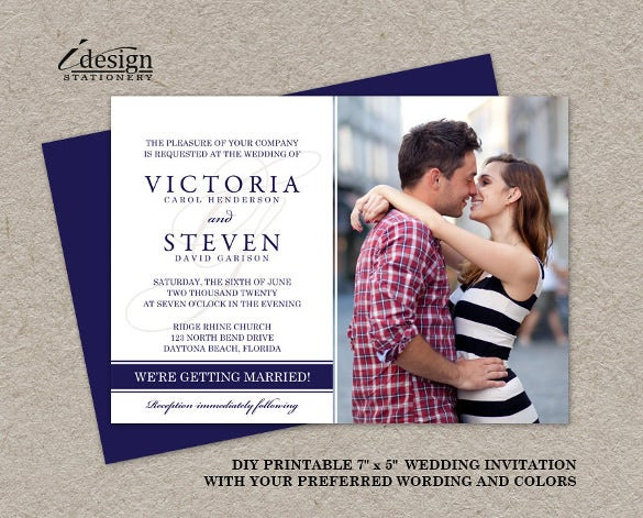 Photo Wedding Invite Card