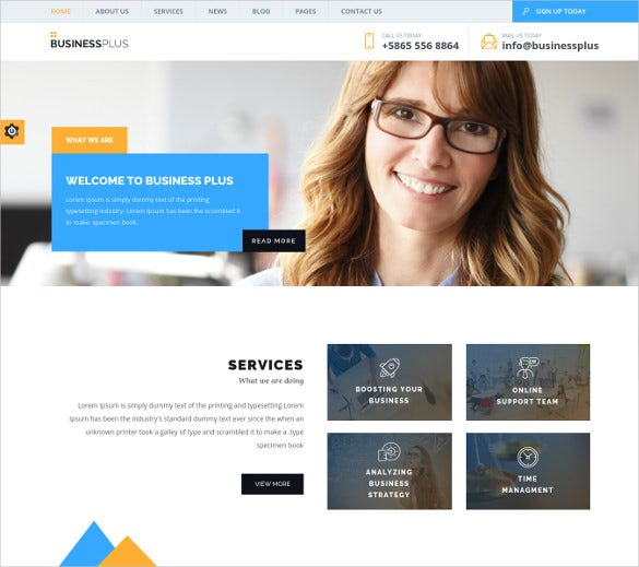 business plus corporate business wp blog theme