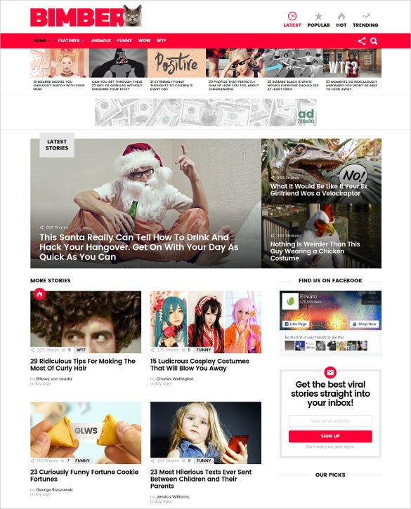 bimber viral buzz wordpress blog theme