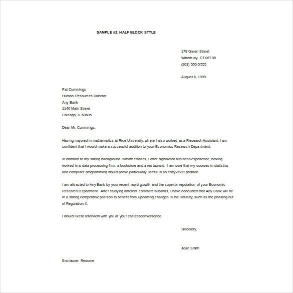 Email Cover Letter Word Template Free