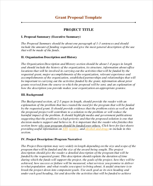 Grant Proposal Template Nsf Grant Proposal Sample Nsf Grant