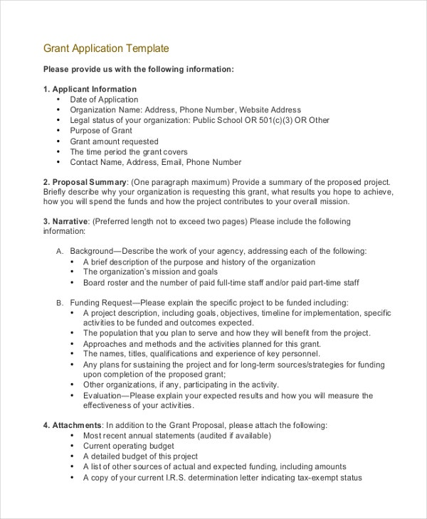 Grant Proposal Letter Grant Request Letter Writing Template In