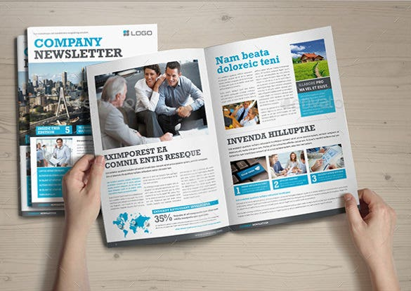 Company Newsletter Template 7 Psd Pdf Format Download Free