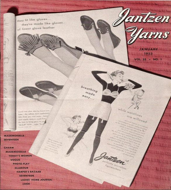 rare jantzen yarns january 1953 company newsletter