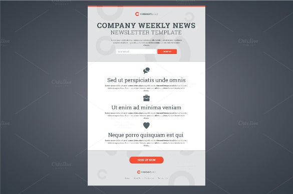 Company Newsletter Template   Psd Pdf Format Download  Free