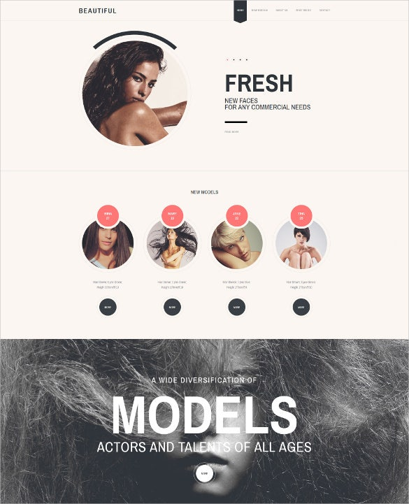 model agency responsive website html5 template